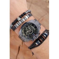 ست دستبند و ساعت مچی مردانه