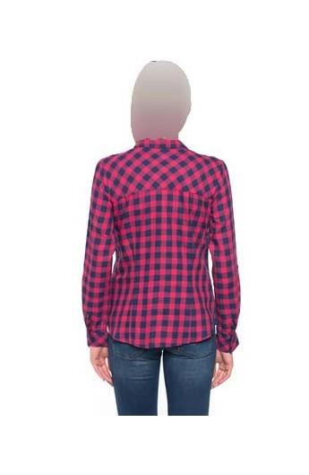 پیراهن چهارخونه زنانه