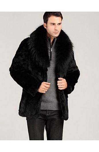 کت زمستانی یقه خز دار مردانه