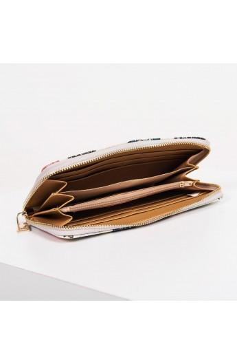 کیف پول و دستی طرح دار زنانه