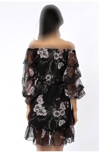 پیراهن کوتاه مدلدار زنانه