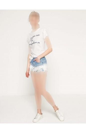 شلوارک جین مدلدار زنانه
