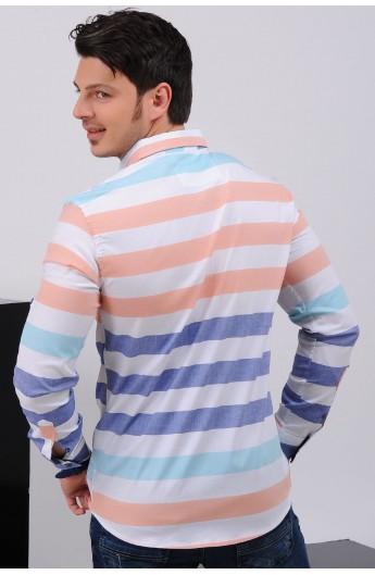 پیراهن راه راه اسپرت مردانه