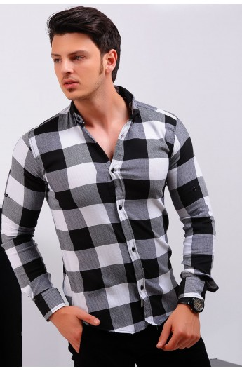 پیراهن شطرنجی اسپرت مردانه