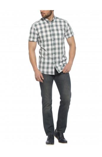 پیراهن چهارخانه آستین کوتاه مردانه