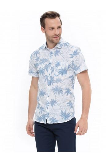 پیراهن طرحدار آستین کوتاه مردانه
