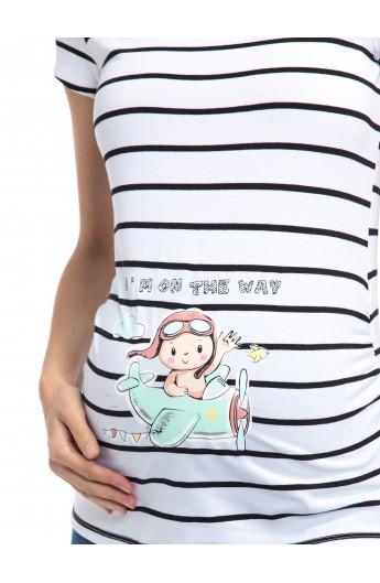 تیشرت بارداری طرح دار