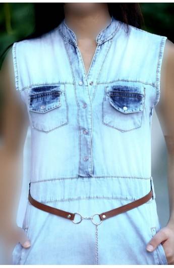 لباس جین دکمه ای زنانه