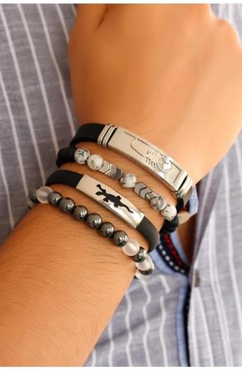 ست دستبند طرحدار مردانه