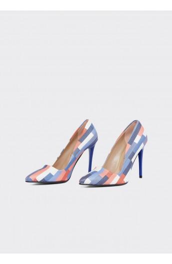 کفش چهارخانه پاشنه دار زنانه