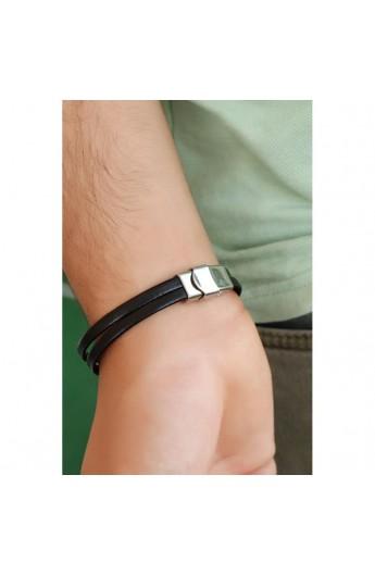 دستبند بند چرم مردانه