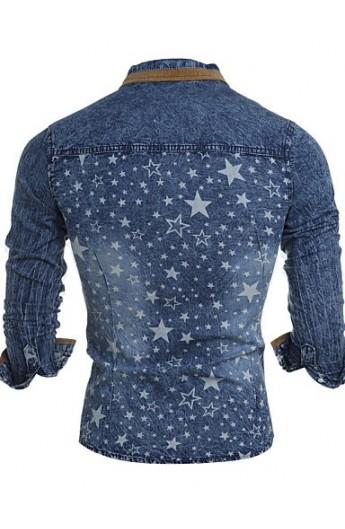 پیراهن جین طرحدار مردانه
