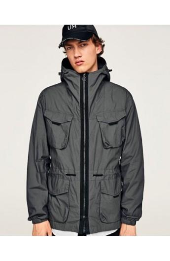 بارانی کلاه دار مردانه زارا