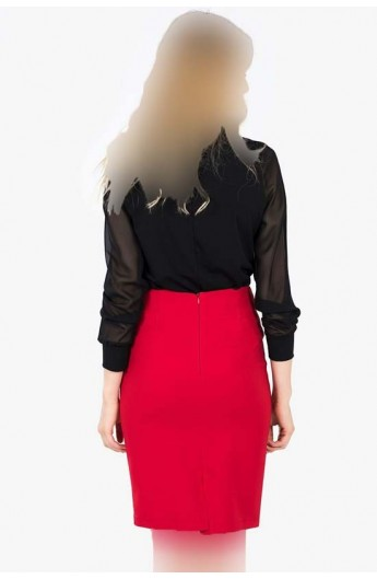 دامن قرمز زنانه