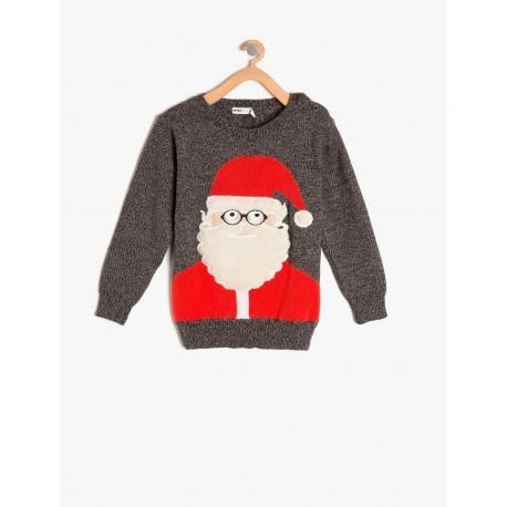 بلوز بافت بابانوئل پسرانه