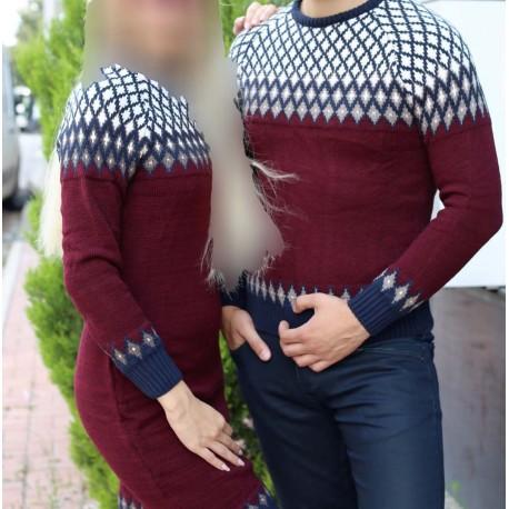 ست بافت طرحدار زنانه مردانه