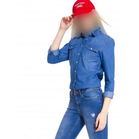 شومیز جین جیب دار زنانه