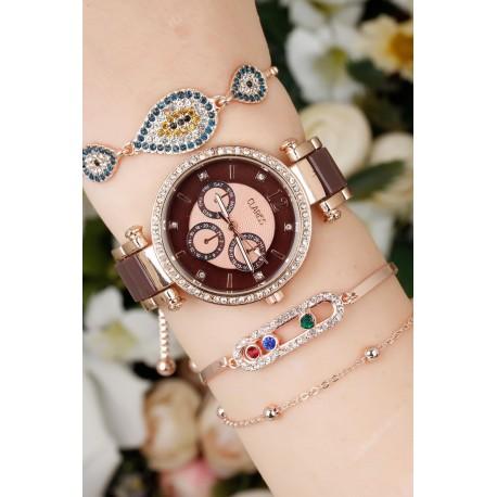 ست ساعت دستبند طرحدار زنانه